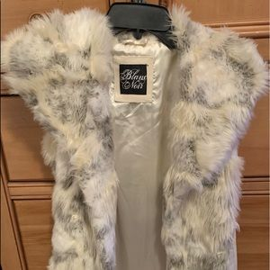 Blanc Noir Fur Vest For Women